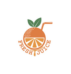 Fresh juice emblem vector