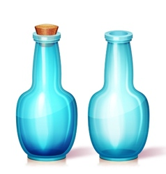 glass flask vector image