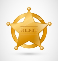 Gold Sheriff Badge vector image