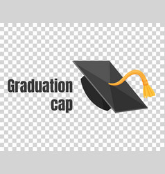 graduation cap or hat in the vector image
