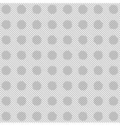 Grey diagonal stripes and circles pattern vector