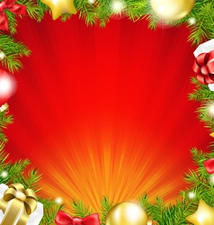 Happy Christmas Sunburst Card vector image