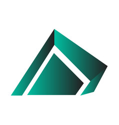 isolated abstract building logo vector image