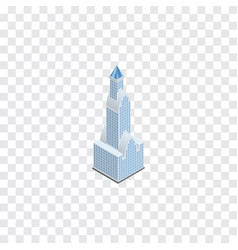 Isolated tower isometric cityscape element vector