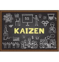 kaizen vector image