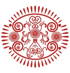 Lace oval patern inspired by Asian culture vector
