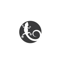 lizard logo template vector image