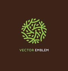 Logo design template in green color vector