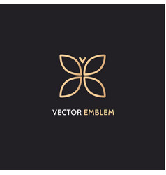 logo template in gold color vector image