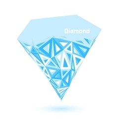 Low poly diamond vector