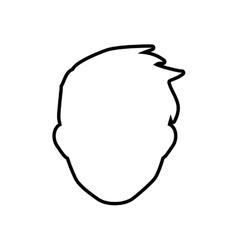 Man head silhouette icon Avatar male design vector image