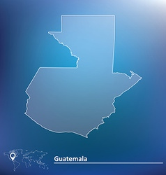 Map of Guatemala vector image