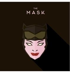 Mask alien girl with sunglasses on mask white vector