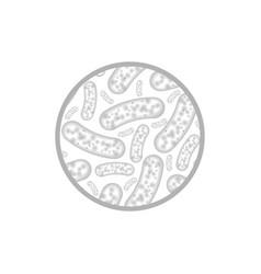 micro bacterium gray vector image