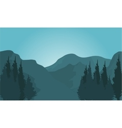 Morning at Mountains vector