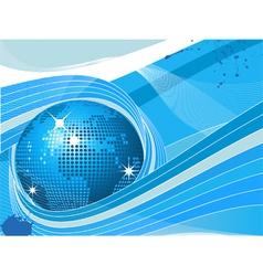 mosaic world globe vector image