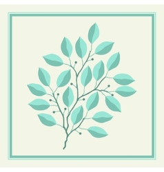 Natural abstract background with branches of vector image