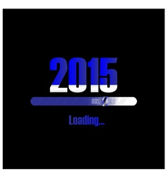 New year 2015 loading background vector image