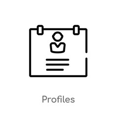 Outline profiles icon isolated black simple line vector