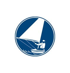 Sailing Yachting Circle Icon vector image
