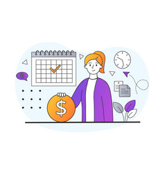 Salary or payroll concept vector