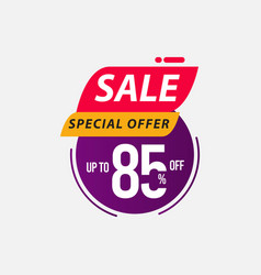 Sale special offer up to 85 off limited time only vector
