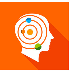 Science brain icon flat style vector