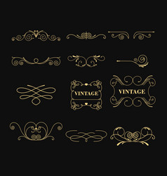 set of vintage graphic vector image