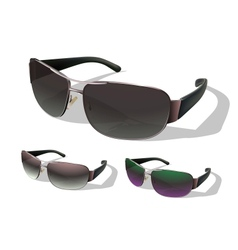 set sunglasses vector image
