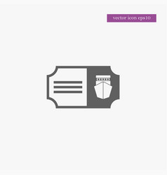 Ship ticket icon simple vector