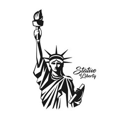 Statue liberty black and white design vector