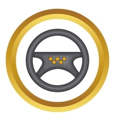Steering wheel of taxi icon vector image