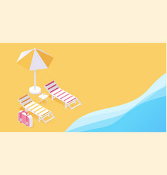 summer tropical vacation resort 3d concept two vector image
