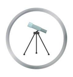 Telescope icon cartoon Single education icon from vector image