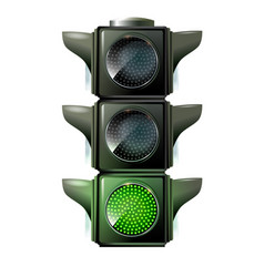 traffic lights 10eps green light vector image