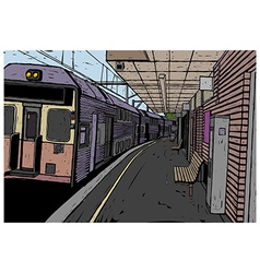 Train Station Background vector image
