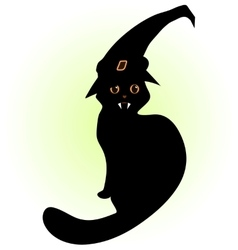 Vampire cat with hat vector