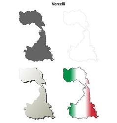 Vercelli blank detailed outline map set vector