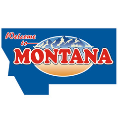 vintage tin sign with us montana vector image