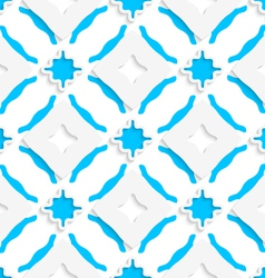 Wavy squares with blue wings seamless vector image