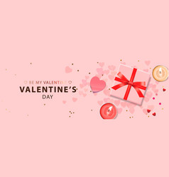 web banner for valentine day vector image