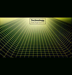 Wireframe landscapetechnology background vector
