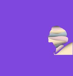 women paper cut background concept design vector image