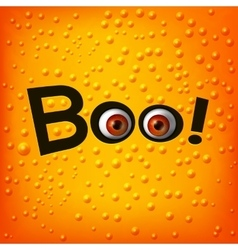 BOO text with monster eyes vector image vector image