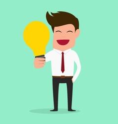 Businessman have idea Idea concept vector image