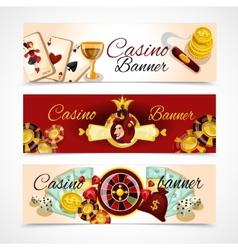Casino Banner Set vector image vector image