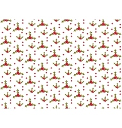 Christmas seamless background with holly vector image