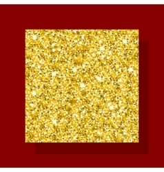 golden figure square vector image vector image