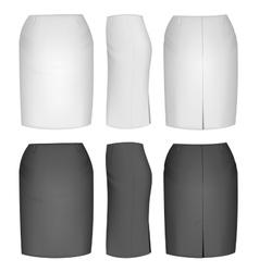 Ladies skirt for business women vector image vector image