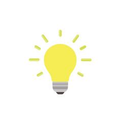 light bulb icon isolated idea design art business vector image vector image